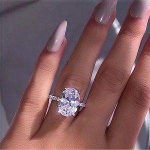 Jewelry - 14k white gold oval diamond ring wedding 5 CT